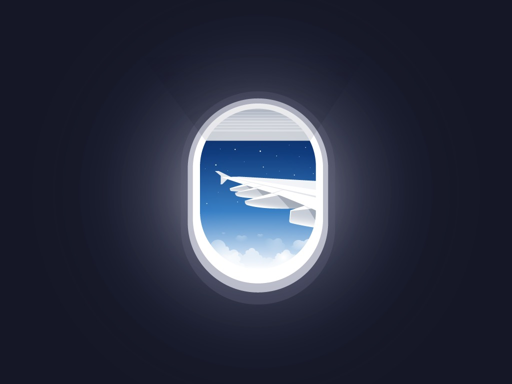 Icon design of plane window