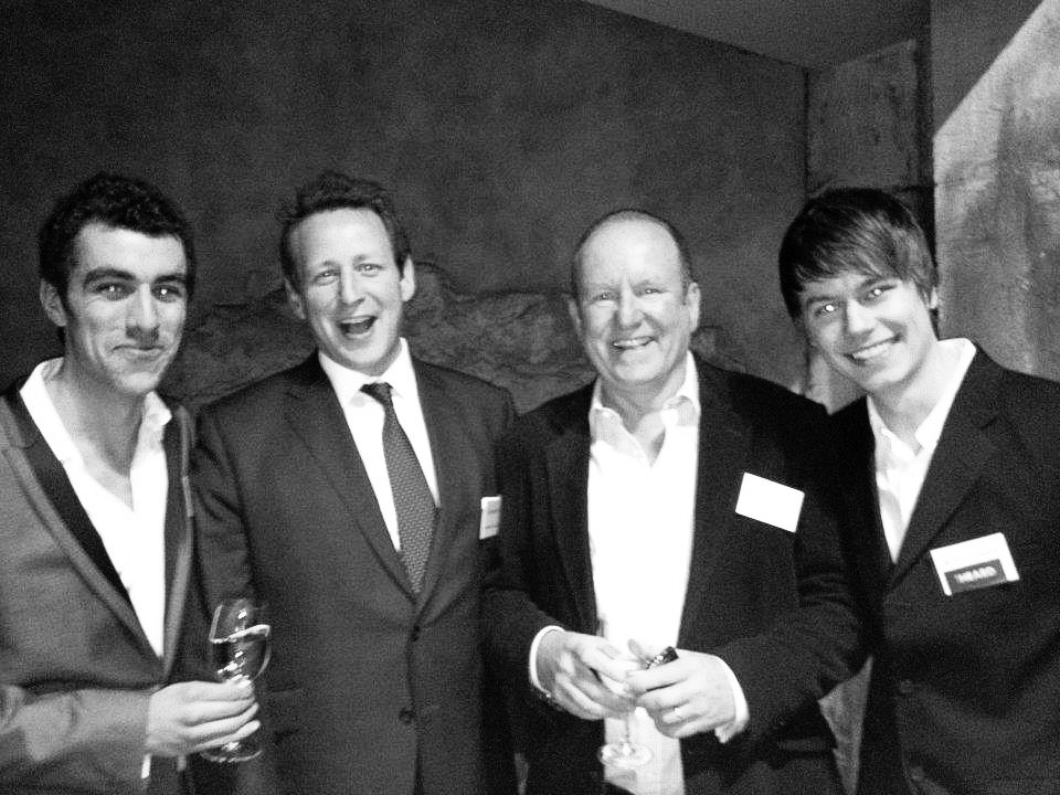 Photo, from left to right: Yours Truly; Ed Vaizey — HM Minister of State for Culture, Communications and Creative Industries; Ian Livingstone CBE; Michal Krzywinski — outheard.tv co-founder