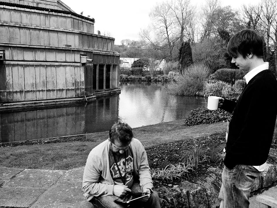 James and Michal at Peter Gabriel's Real World Studios in Bath