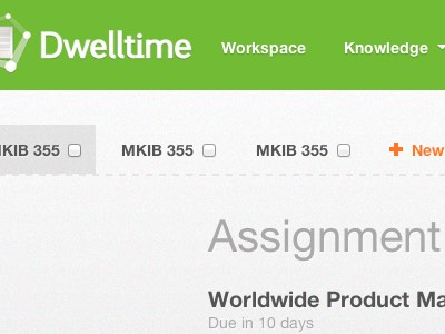 A snippet of Dwelltime's user interface